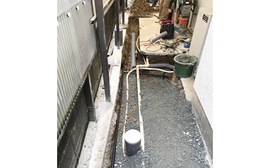 下水改造工事